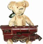 Here Ted is with his Hillclimber. The train is about 15 years older than Ted.